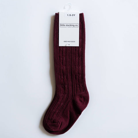 Little Stocking Co. - Wine Knee High Socks