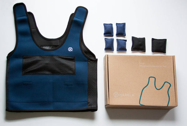 Harkla - Small Weighted Compression Vest - Navy