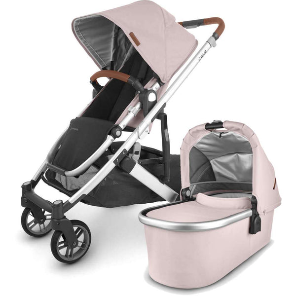 UPPAbaby CRUZ V2 Stroller - ALICE (dusty pink/silver/saddle leather) + Bassinet