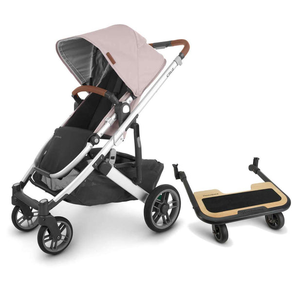 UPPAbaby CRUZ V2 Stroller - ALICE (dusty pink/silver/saddle leather) + PiggyBack