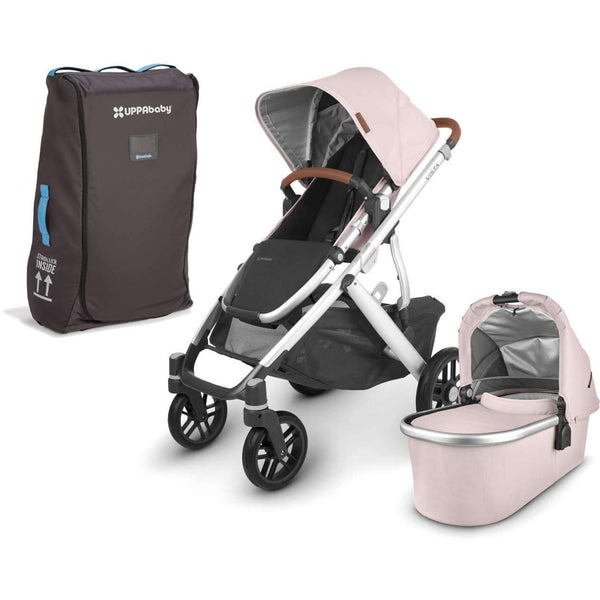 UPPAbaby VISTA V2 Stroller - ALICE (dusty pink/silver/saddle leather) + Travel Bag