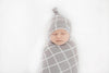 Knit Swaddle Blanket in Midway