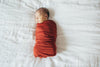 Knit Swaddle Blanket in Rust