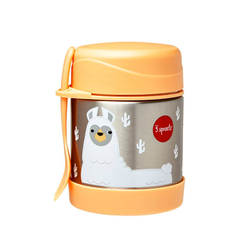 Stainless Steel Food Jar in Llama by 3 Sprouts