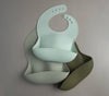 Silicone Bib in Silver Sage by Loulou Lollipop