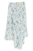 Muslin Swaddle in Up Up Away by Loulou Lollipop