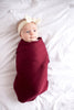 Knit Swaddle Blanket in Ruby