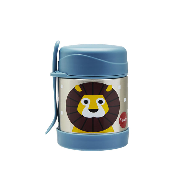 Stainless Steel Food Jar in Lion by 3 Sprouts