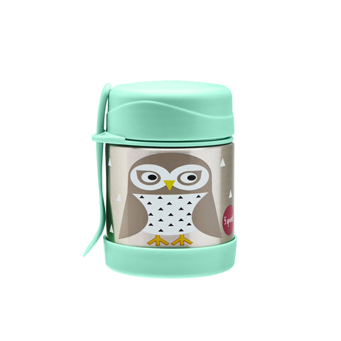 Stainless Steel Food Jar in Owl by 3 Sprouts