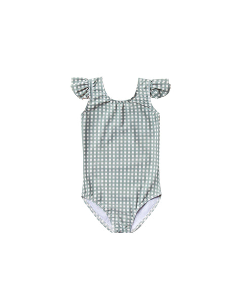 Frill Onepiece Swimsuit in Gingham by Rylee + Cru