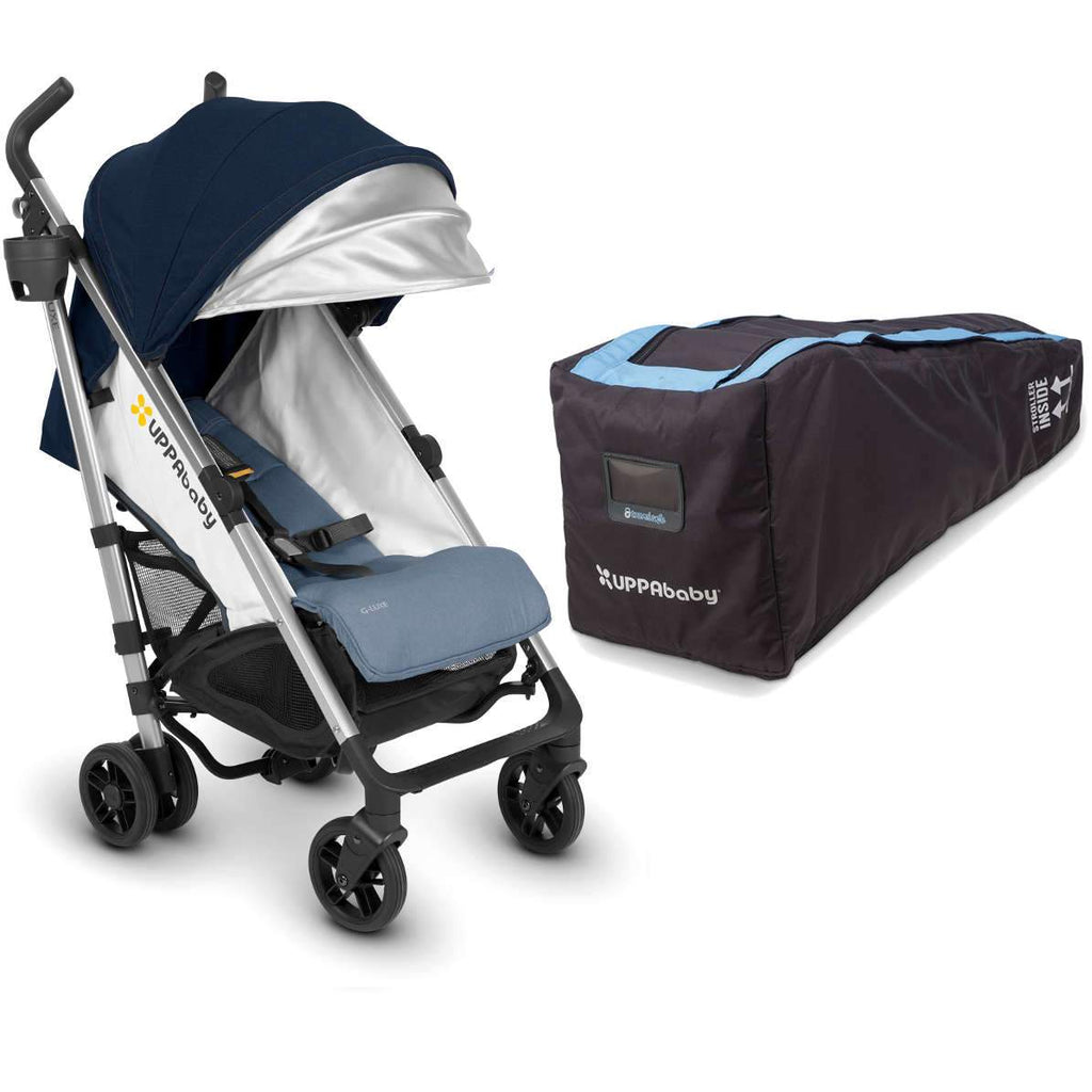 UPPAbaby G-LUXE Stroller in Aidan + Travel Bag