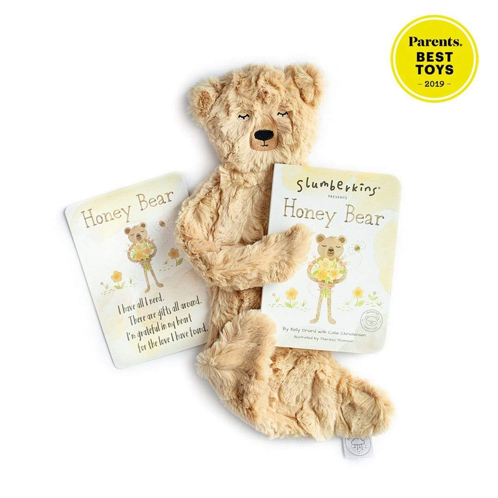Honey Bear Snuggler Bundle in Silken Honey by Slumberkins