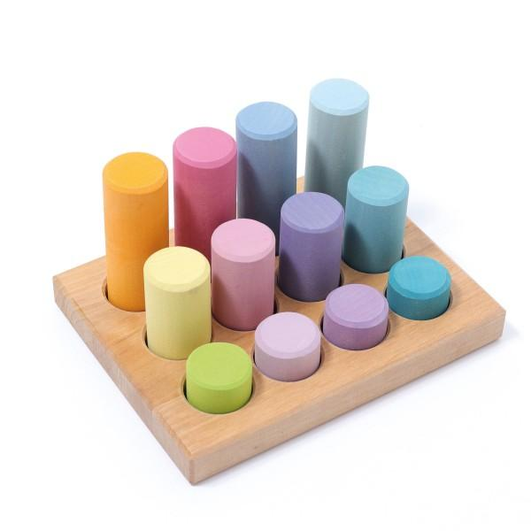 Small Stacking Rollers Game in Pastel by Grimm's