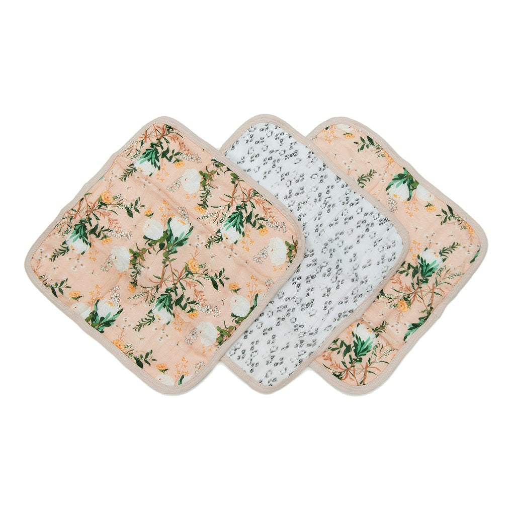 Washcloth Set in Blushing Protea by Loulou Lollipop