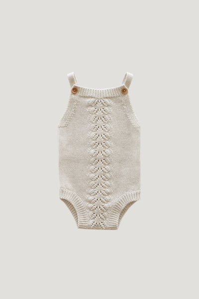Casey Playsuit in Oatmeal Marle by Jamie Kay