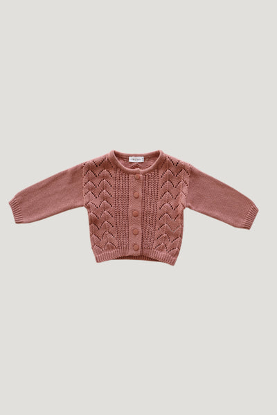Ellery Cardigan in Rose by Jamie Kay