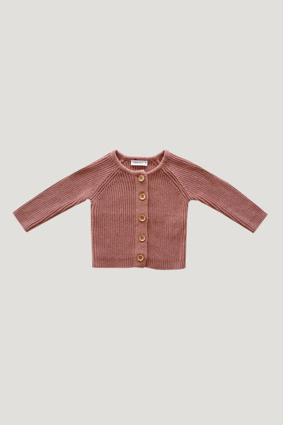 Rib Cardigan in Rose by Jamie Kay