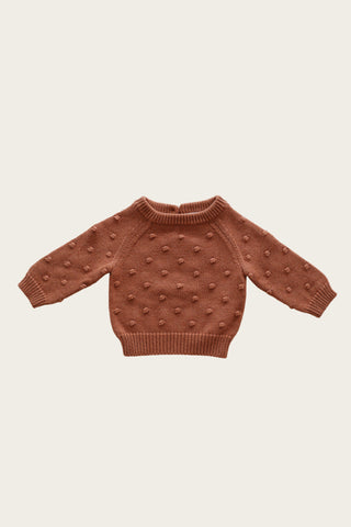 Dotty Knit Sweater in Copper Marle by Jamie Kay