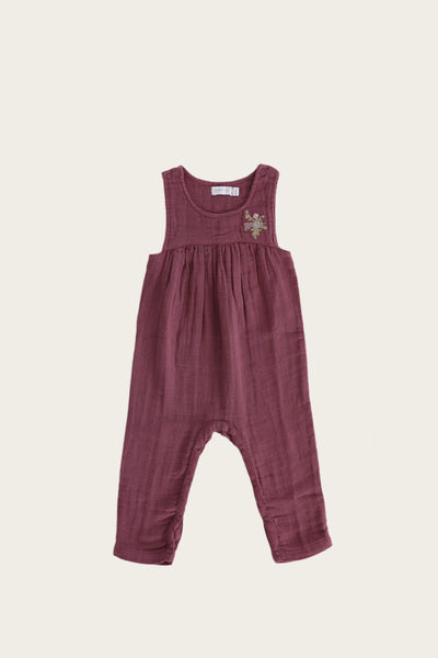 Organic Cotton Muslin Chelsea Onepiece in Sugar Plum by Jamie Kay
