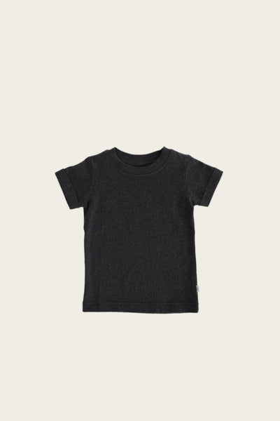 Organic Cotton Sam Tee in Dark Grey Marle by Jamie Kay