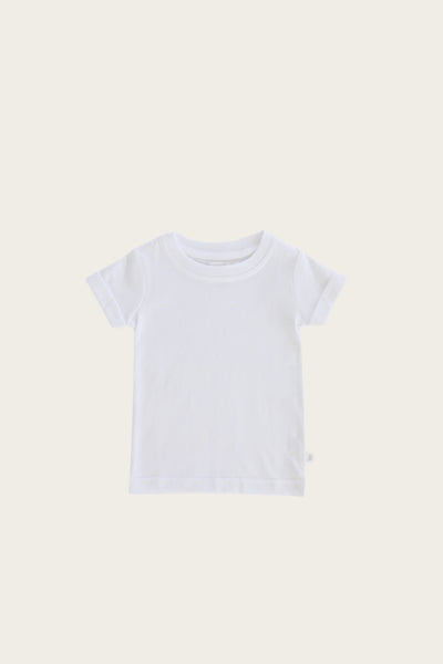 Organic Cotton Sam Tee in White by Jamie Kay