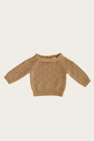 Dotty Knit Sweater in Latte by Jamie Kay