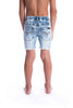 Blue Denim Jeg Shorts by Beau Hudson