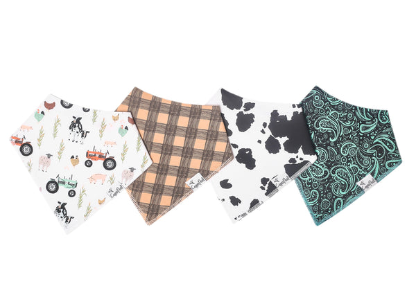 Baby Bandana Bibs in Jo by Copper Pearl