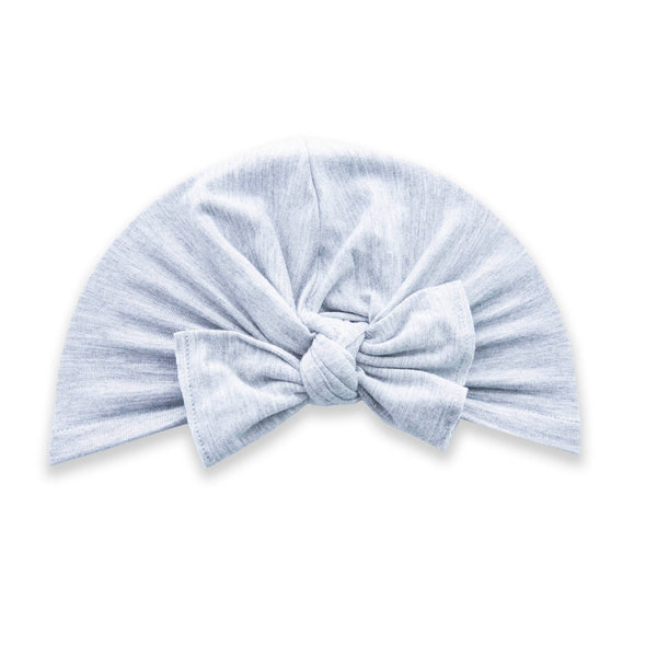 Knot Turban in Heather Grey by Baby Bling