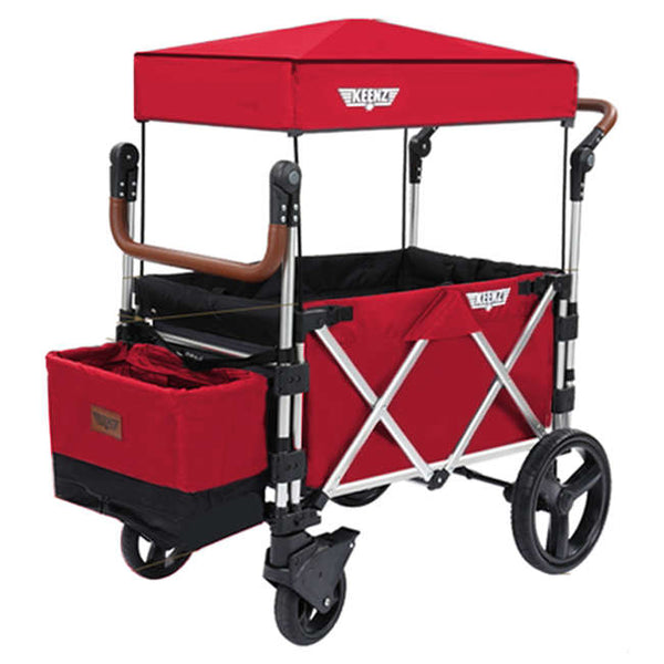 Keenz 7S Premium Stroller Wagon in Red with Black Interioir