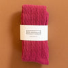 Little Stocking Co. Raspberry Cable Knit Tights