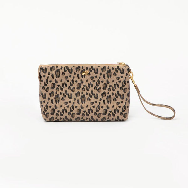 Zip Pouch in Leopard by Freshly Picked