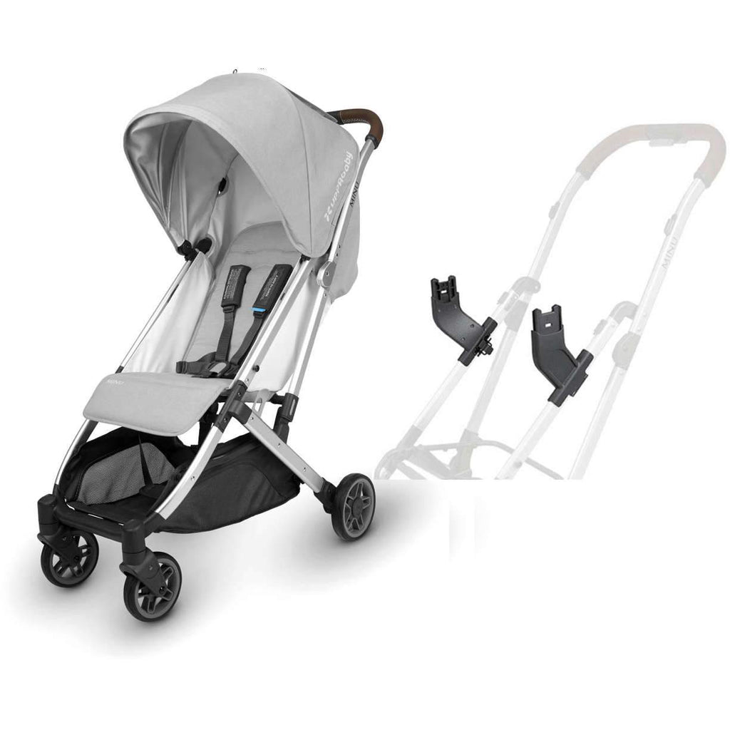 UPPAbaby MINU Stroller in Devin + Mesa Car Seat Adapter