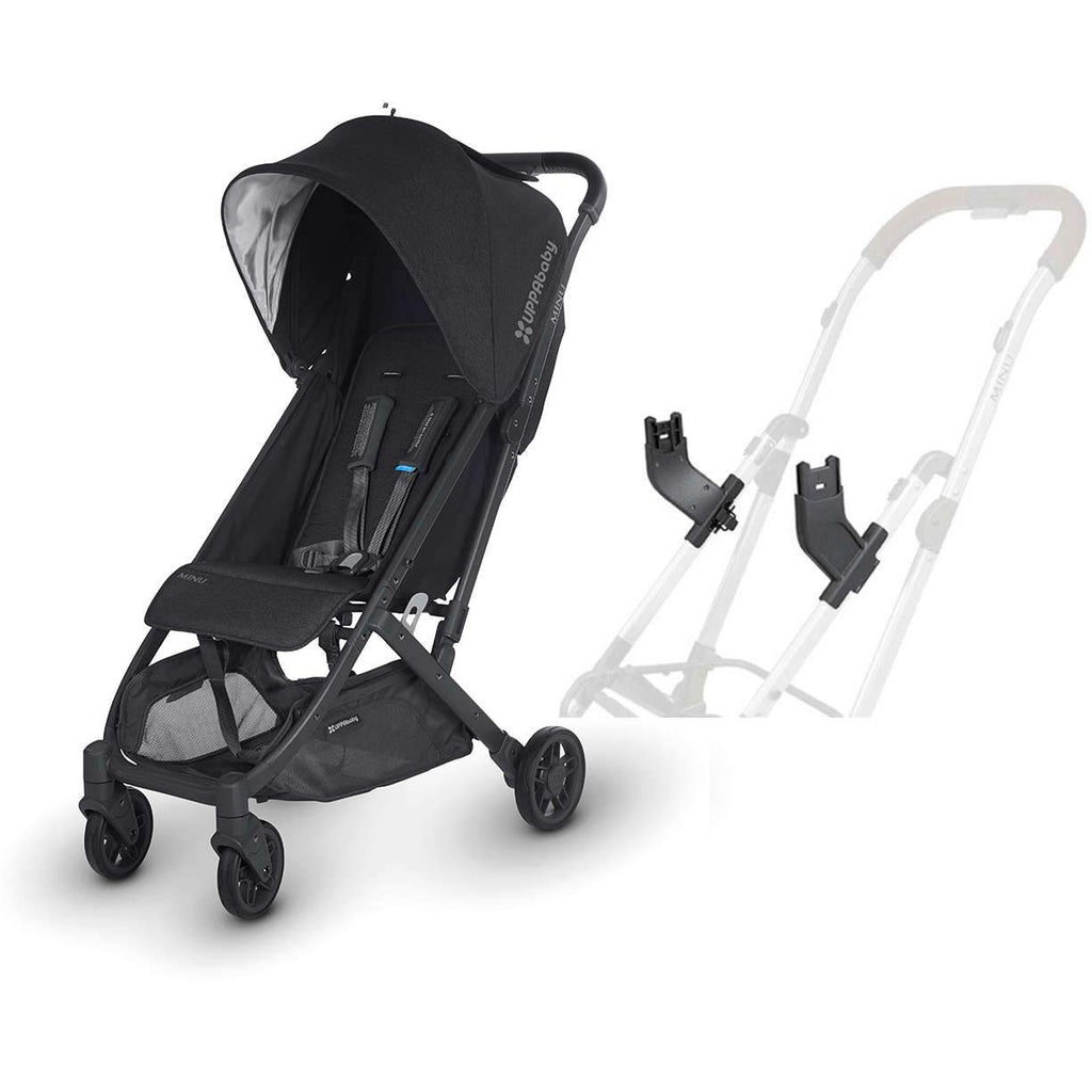 UPPAbaby MINU Stroller in Jake + Mesa Car Seat Adapter