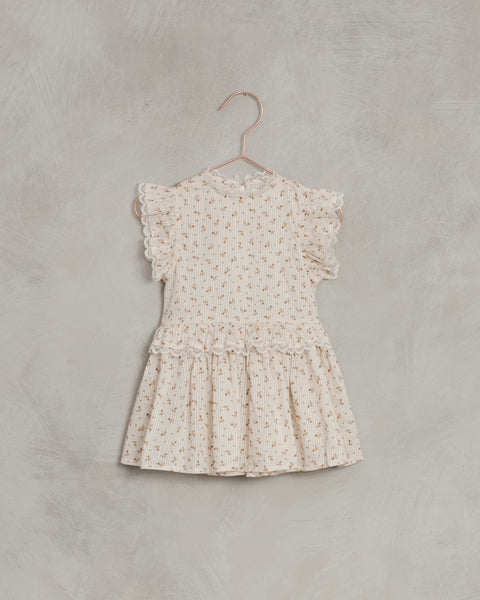 Alice Dress in Gold Fleur by Noralee