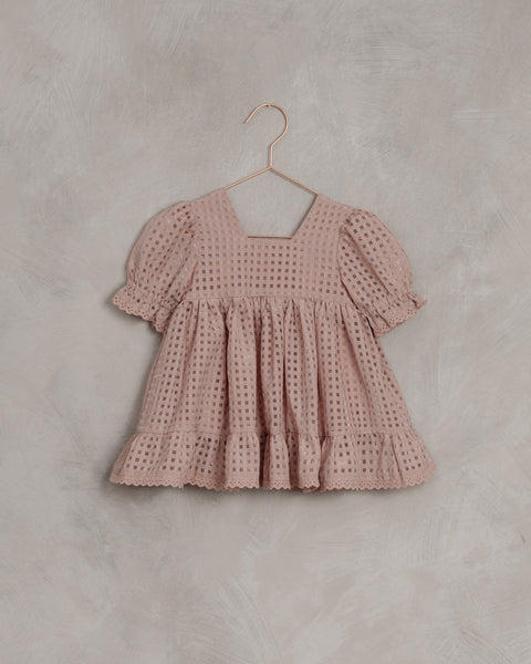 Quinn Dress in Dusty Rose Check by Noralee