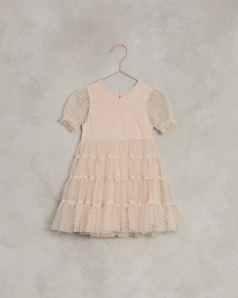Dottie Dress in Light Peach by Noralee