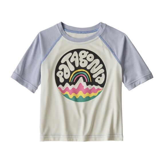 Baby Capilene® Cool Daily T-Shirt in Bubble Fitz Birch White (BFBW) by Patagonia