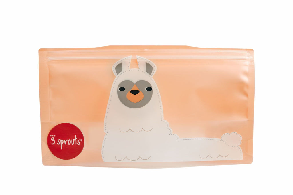 Reusable Snack Bags in Llama 2-pk by 3 Sprouts