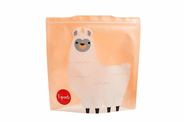 Reusable Sandwich Bags in Llama 2-pk by 3 Sprouts