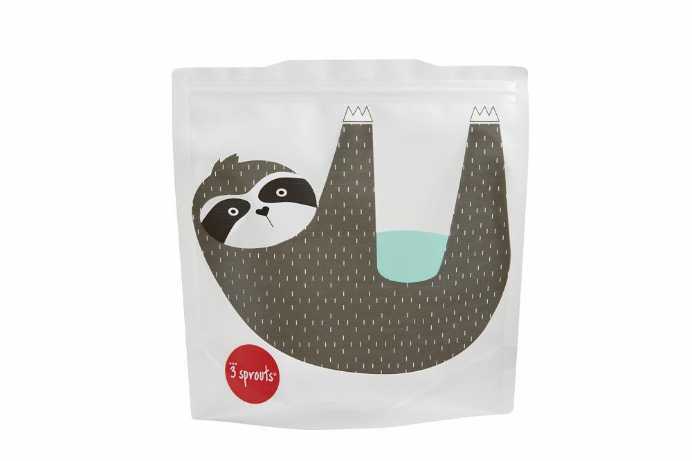 Reusable Sandwich Bags in Sloth 2-pk by 3 Sprouts