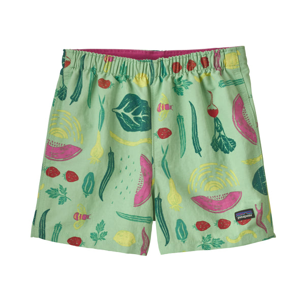 Baby Baggies Shorts in Southern Farm Basket Bud Green (SFBG) by Patagonia