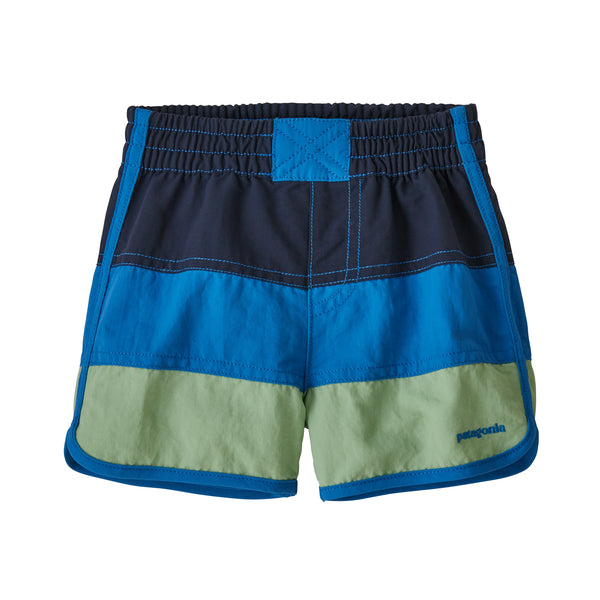 Baby Boardshorts in New Navy  with Bayou Blue (NEBU) by Patagonia