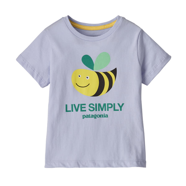 Copy of Baby Live Simply Organic Cotton T-Shirt in Live Simply Bee Cool Man Beluga (LSCB) by Patagonia