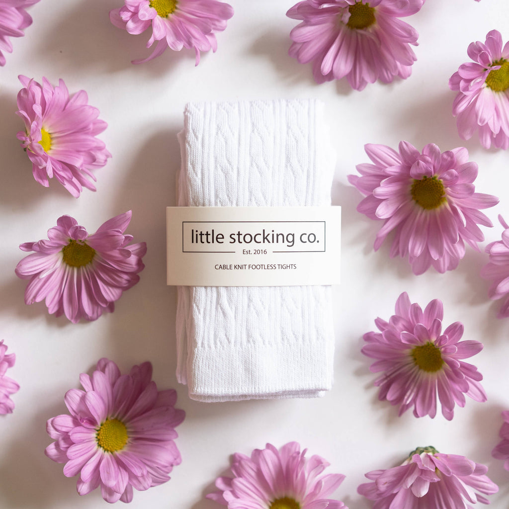 Little Stocking Co. - White Footless Tights