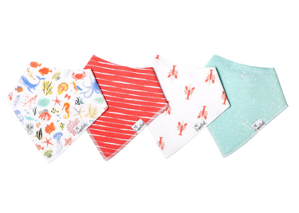 Baby Bandana Bibs in Nautical Set by Copper Pearl