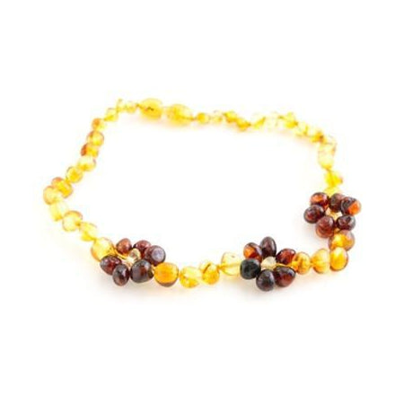 Amber Polished Necklace in Honey Chestnut Flower