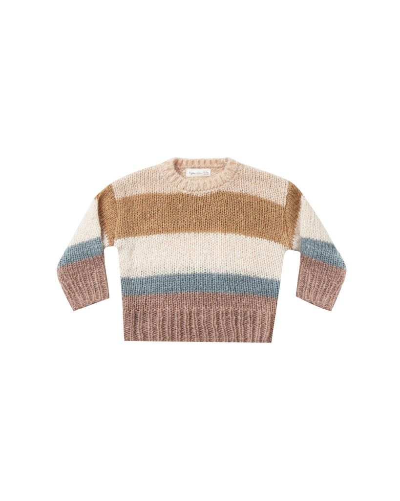 Aspen Sweater in Multi Stripe by Rylee + Cru