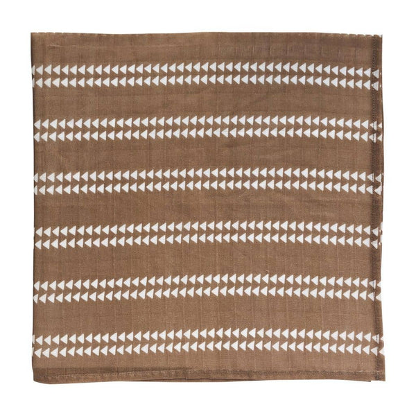 Swaddle in Mocha Brown Arrow by The Mini Scout