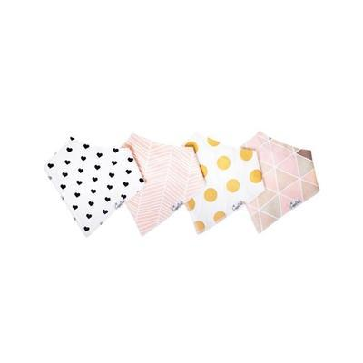 Baby Bandana Bibs in Blush Set